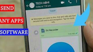 How To Send Apk File And Exe File From WhatsApp Messenger 2017Namshkar dosto aj me phr ek video laya hu aj hm bat krenge kaise aap apne WhatsApp messenger se v software ya apk file ko send kr sakte haiSubscribe aur channel for more videosNew video check this..Agr aapko mera ye video pasnd aaya to like Share subscribe krna na bhule.....Follow me on Facebook-https://goo.gl/gT1Ew6Follow me on Twitter-https://goo.gl/FdtGjxFollow me on Instagram-https://goo.gl/vjq15pLIKE ◆ SHARE ◆ SUBSCRIBE