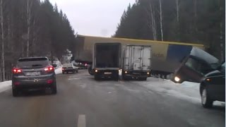Аварии фур, грузовиков Ноябрь Декабрь 2014