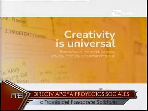 Directv apoya proyectos sociales a través del pasaporte solidario