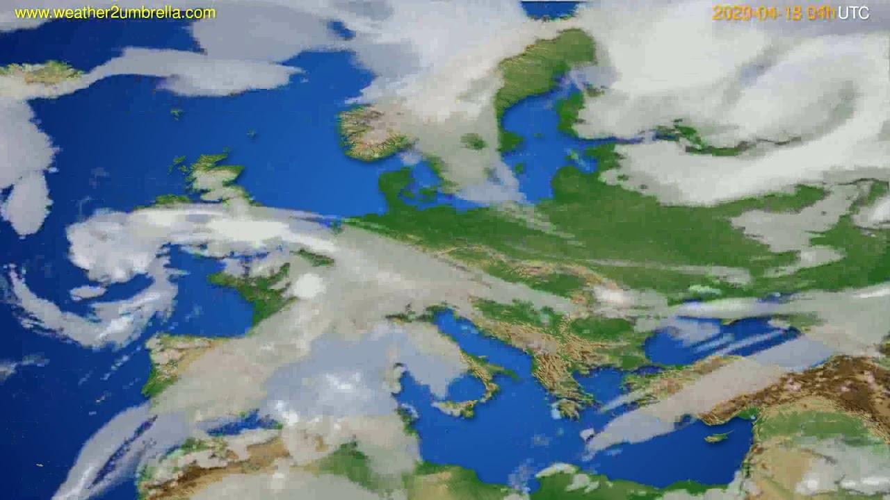 Cloud forecast Europe // modelrun: 12h UTC 2020-04-17