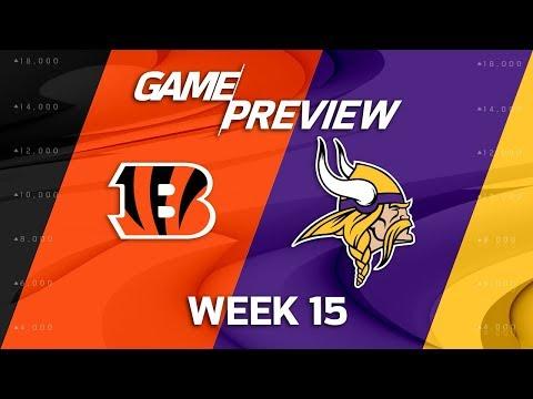 Video: Cincinnati Bengals vs. Minnesota Vikings | NFL Week 15 Game Preview | NFL Playbook