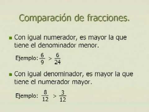 Las fracciones - 5º de Primaria