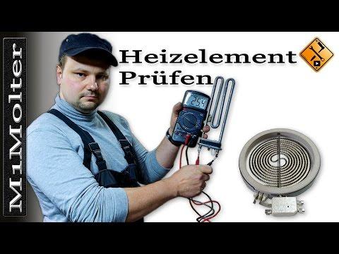 Heizelement prüfen z.B. Herd, Waschmaschine, Geschirrspüler usw... von M1Molter