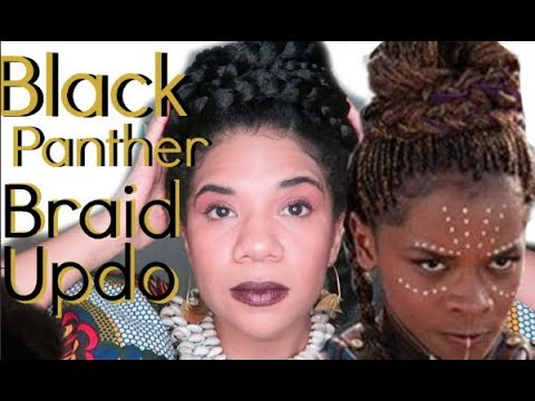 Braid hairstyles - Black Panther Natural Hairstyle Braided Updo