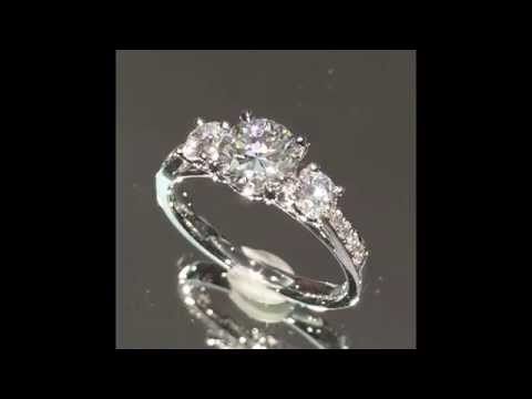 Round Diamond 3-Stone Engagement Ring