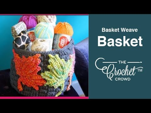 containers - Learn how to crochet basket weave containers. These double stranded crochet basket weave stitch containers are really easy. They make for convenient decor and practical home storage ideas....
