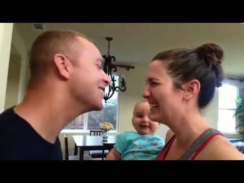 Parents Kissing Cracks THIS Baby Up!