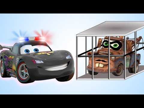Disney Cars 3 Lightning McQueen Police Funny Baby Learn Colors with Fingers Family Baby Songs