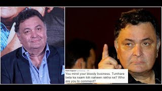 Actor Rishi Kapoor, who is known to be a blabber mouth on Twitter, recently reacted on being trolled by his followers. The veteran ...
