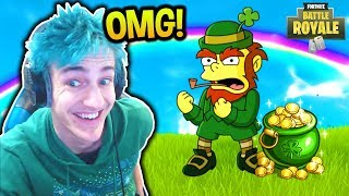 NINJA FINDS A LEPRECHAUN IN FORTNITE! *REAL* Fortnite FUNNY & SAVAGE Moments
