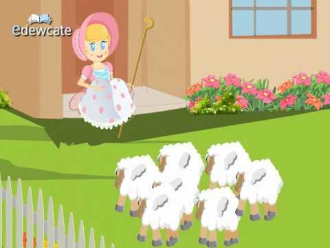 Little bo peep has lost her sheep nursery rhyme