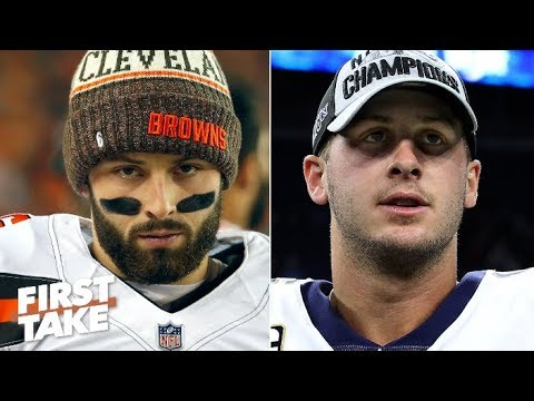 Video: Baker Mayfield or Jared Goff: Which QB would you rather have? | First Take