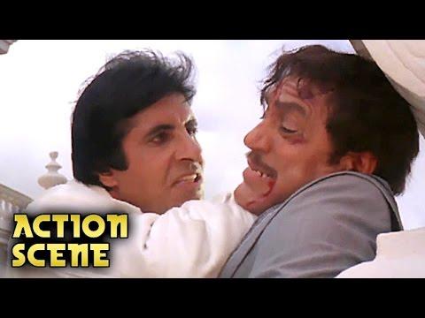 Amitabh Bachchan KILLS Amrish Puri | Action Scene | Aaj Ka Arjun | Amitabh Bachchan, Jaya Prada | HD