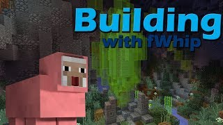 Building with fWhip :: •Cave TIMELAPSE & SIMPLE EASY Automatic Sheep farm• #037 Minecraft 1.12.1