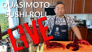 LIVE Dungeness Crab and Maine Lobster | Quasimoto Sushi Roll by Diaries of a Master Sushi Chef