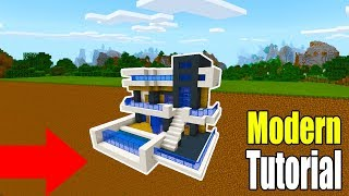 "Minecraft Tutorial: How To Make A Modern Mountain Base ""2019 Tutorial"""
