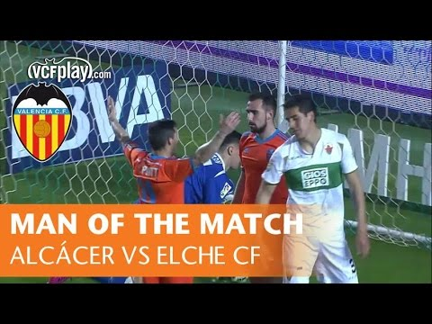 Man of the Match: Alcácer for Valencia CF vs Elche CF (0-4, 20/03/15)
