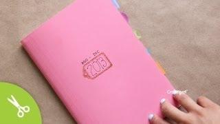 Haz tu propia Agenda / Libreta [ encuadernado básico ] #Back2School - YouTube