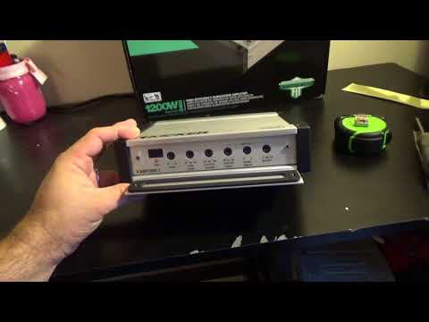 Kicker KXM 1200.1 Marine Amplifier Unboxing and Amp Dyno
