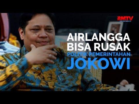 Airlangga Bisa Rusak Politik Pemerintahan Jokowi