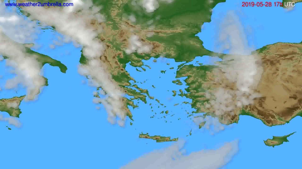Cloud forecast Greece // modelrun: 00h UTC 2019-05-27