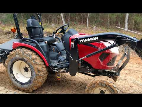 Yanmar SA424 TLB compact tractor overview after 10 hours of hard use