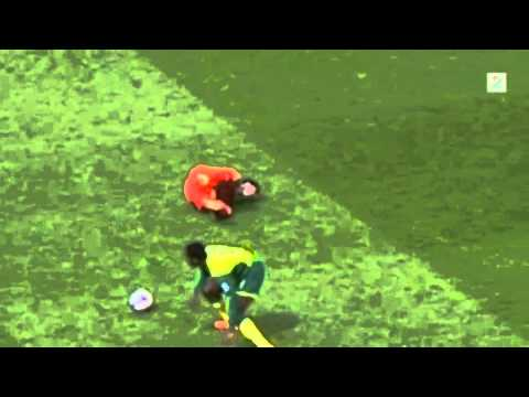 Luiz Suarez Epic Cool Diving Vs Norwich 2014