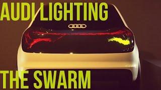"""Audi eksperymentuje z nowym rodzajem """"pełzających"""" świateł"""