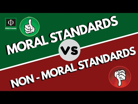 Moral Standards vs Non-Moral Standards - General Ethics - PHILO-notes Whiteboard Edition