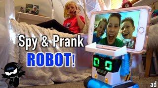 Video Spy and Pranks with a ROBOT! MP3, 3GP, MP4, WEBM, AVI, FLV Agustus 2019