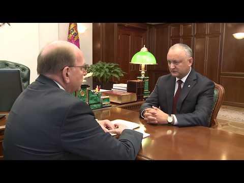 Igor Dodon avut o întrevedere de lucru cu Oleg Vasnețov
