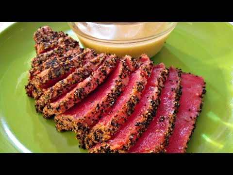 Ahi Tuna - Seared Salt And Pepper Ahi Tuna With Wasabi Vinaigrette - PoorMansGourmet