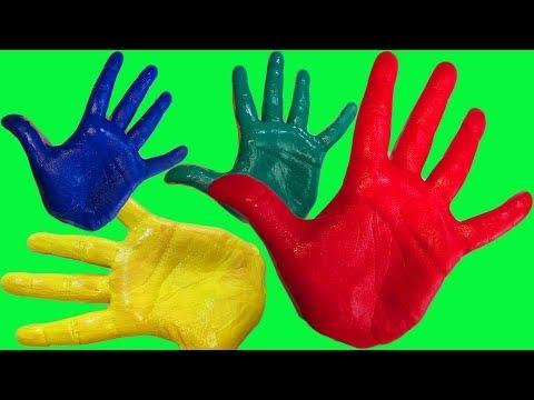 Учим цвета для самых маленьких Развивающая песня про пальчики Сборник для малышей Пальчиковые краски (видео)