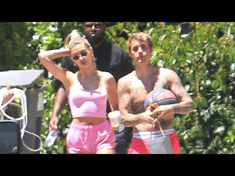 Justin And Hailey Bieber's Security Guard Kicks Fans OUT During Singer's Basketball Session
