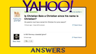 People like THIS exist on Yahoo Answers..