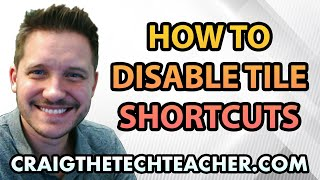 This video is brought to you by: http://www.craigthetechteacher.com - As useful as the tiles in the start menu can be, sometimes it can be extremely redundant. After all, we have our shortcuts in the start menu, we can search for them and we can even put them on our desktop or pin them to the taskbar. After awhile, you really only need shortcuts in so many places.If you're like me, you're old school, and really don't open the start menu. Ether you launch your programs from the taskbar or you simply type the name of the program into your search and select it. If this is the case then you really have no use for the tiles... I know I dont.So this video covers how to completely remove the tiles from the start menu. This is actually and extremely painless process and you can get this entire process completed in only a matter of a couple of minutes.