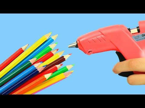12 Hot Glue Gun Hacks For Crafting (видео)