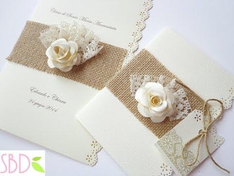 partecipazioni di nozze shabby - tutorial