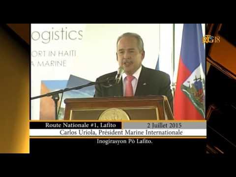 Président Martelly a procédé à l'inauguration du Port Lafito