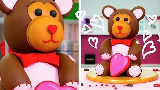 Video How To Make An Adorable TEDDY BEAR CAKE For Valentine's Day | Yolanda Gampp | How To Cake It MP3, 3GP, MP4, WEBM, AVI, FLV Desember 2018