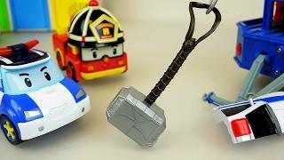 Video Thor hammer and Robocar Poli car toys MP3, 3GP, MP4, WEBM, AVI, FLV Oktober 2018