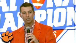 Dabo Swinney: We're Looking For Championship Caliber People