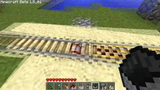 Minecraft - How to Make and Use Power/Detector Rails!