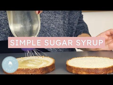 How To Make A Simple Sugar Syrup   Georgia's Cakes