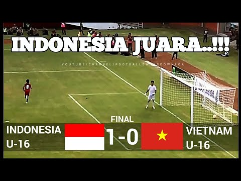 Download Video INDONESIA JUARA !!! FULL TIME 1-0  INDONESIA VS VIETNAM  ✓ U-16 JENESYS CUP 2018  ✓ 12/03/18