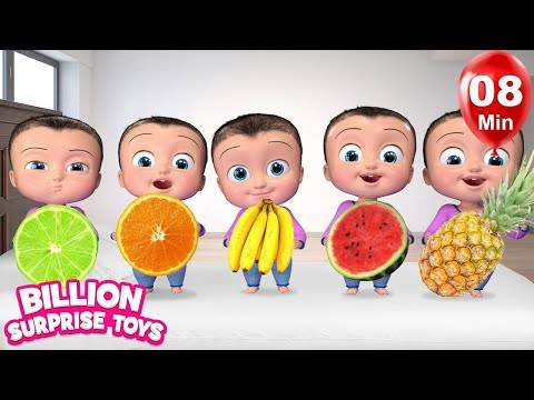 Five Little Babies playing with toys + More BST Nursery Rhymes & Kids Songs