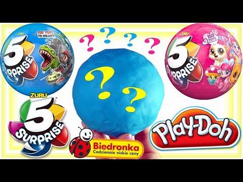 Play Doh • 5 NIESPODZIANEK !!! • Kula niespodzianek • Biedronka