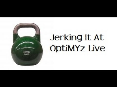 optimyz live - http://www.bellstaekwondo.com/halifaxkettlebellsport.htm Master Tim Bell's attempt at doing 1100 one arm 24 kg Kettlebell Jerks in 60 minutes at the 2013 Op...