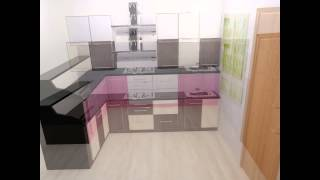 U shape kitchen design