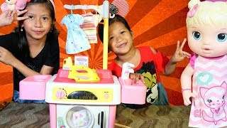 Video Drama Anak Lucu!! Laundry Baju Kotor - Parodi Anak TK Sambil Unboxing Mainan Anak Mesin Cuci MP3, 3GP, MP4, WEBM, AVI, FLV Agustus 2018